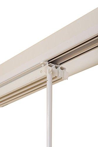 sunlines Paneel-Schienensystem, Weiss, 2-läufig, 120-215 cm Paneelschiene, Metall, 120 x 4 x 2 cm