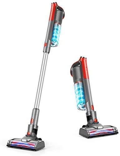 GeeMo Cordless Vacuum Cleaner, 14Kpa Powerful Suction 4 in 1 Brushless Motor Stick Vacuum for Home Hardwood Floor Pet Hair K14