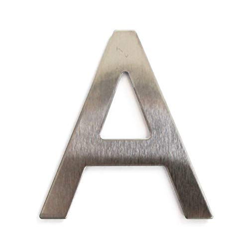 Edelstahl-Buchstabe selbstklebend Höhe 7,5 cm Hausnummer Design A