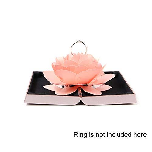 Takefuns Boîte à bijoux pour bague de fiançailles Motif rose romantique, rose, Rose
