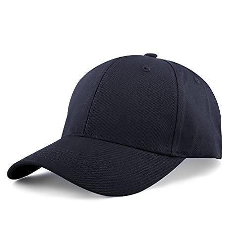 KELOYI Baseball Cap Herren Basecap Dunkelblau Verstellbare Kappe Damen Baumwolle Running Kappen