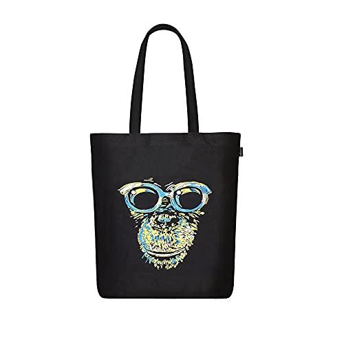 EcoRight, borsa a tracolla in tela da donna, in cotone biologico, riutilizzabile, per la spesa, borsa regalo, borsa da viaggio, (Scimplife), Taglia unica
