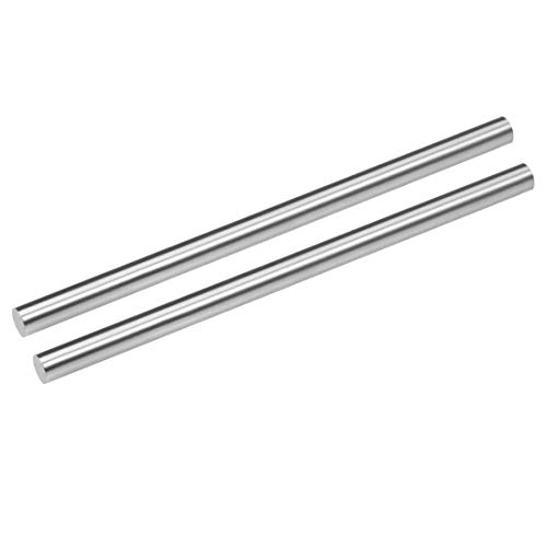 uxcell Round Steel Rod, 8mm HSS Lathe Bar Stock Tool 150mm Long, for Shaft Gear Drill Lathes Boring Machine Turning Miniature Axle, Cylindrical Pin DIY Craft Tool, 2pcs
