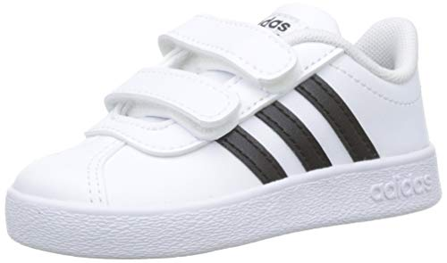 adidas VL Court 2.0 CMF I, Zapatillas de Deporte Unisex niños, Blanco (FTWR White/Core Black/FTWR White FTWR White/Core Black/FTWR White), 20 EU
