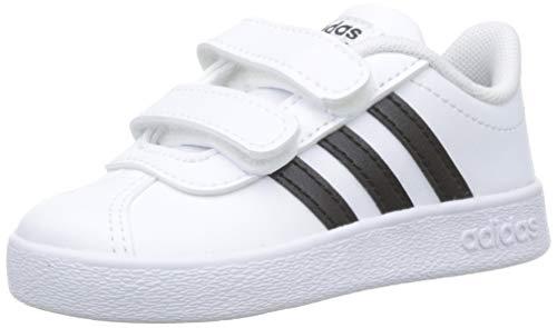 Adidas VL Court 2.0CMF I–Tennisschuh, Kinder, Weiß (Ftwbla/negbas/Ftwbla), 22