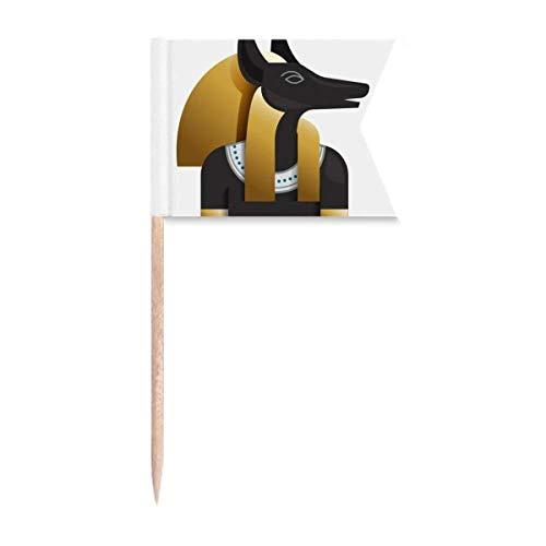"""Beauty Gift Antikes Ã""""gypten Anubis Kunstmuster Markierung für die Kennzeichnung von Zahnstocher-Flaggen"""