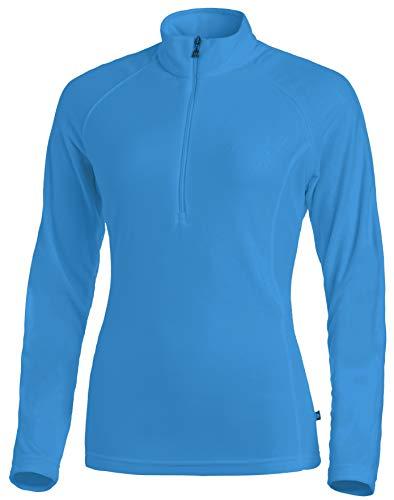 Medico Eletric Blue T-Shirt de Ski à Manches Longues et Fermeture Éclair 100% Polyester pour Femme Bleu Taille 34