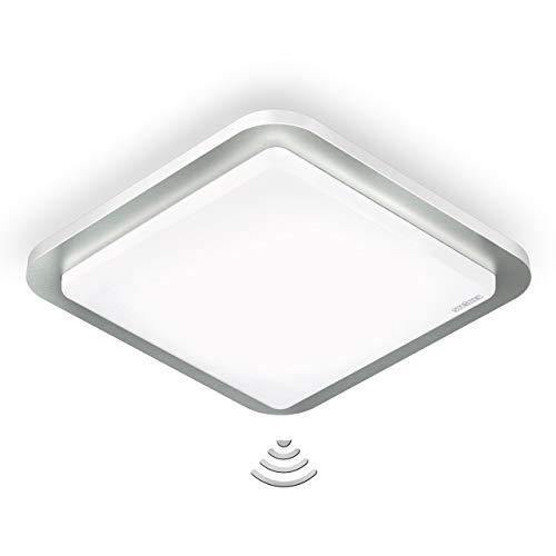 Steinel Smart Home Sensor-Innenleuchte RS LED D2 Z-Wave - Smart Friends, 360° Hochfrequenz-Sensor, 11 W, Edelstahl
