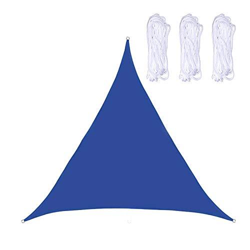 无 Toldo de vela para sombra, 2 x 2 x 2 m x 2 m Equilátero, toldo de tela para exteriores, patio, jardín, patio trasero (azul)