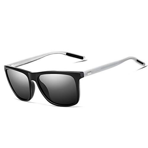 ERIOG Gafas de Sol Gafas De Sol Retro Unisex De Aluminio + Tr90 Lente Polarizada Accesorios De Gafas Vintage Gafas De Sol para Hombres/Mujeres