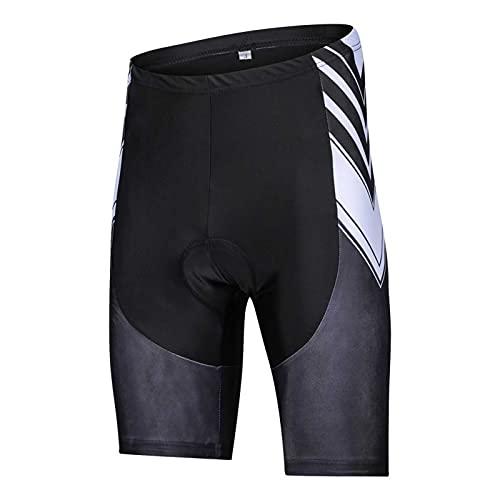 GRTE Pantalones Cortos de Ciclismo para Hombre Pantalones Cortos para Bicicletas y Ropa Interior de Ciclismo seco rápido de Alta Elasticidad Transpirable 9D Gel Acolchado,A,XXL