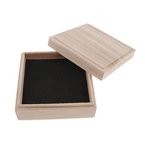 sharprepublic Quadratische Holzbox, Holzkiste mit Deckel, Holz-Schatulle Aufbewahrungskiste Allzweckkiste Holzkasten