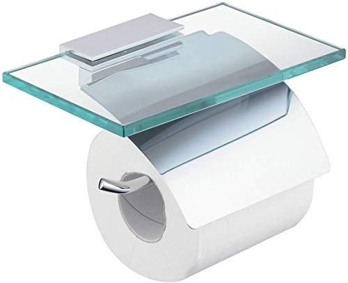 marushin 北欧 トイレットペーパーホルダー ガラス トレイ付き