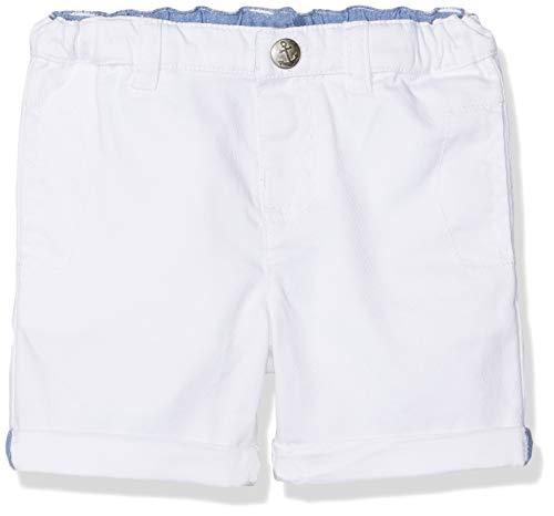 Chicco Pantaloncini Pantalones Cortos, Blanco (Bianco 033), 52 (Talla del Fabricante: 056) para Bebés