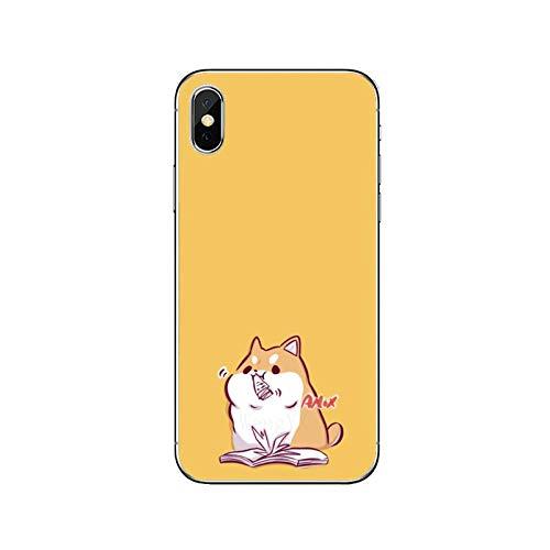 Cute Cartoon Shiba Inu Accesorios Funda del Teléfono Para Huawei P30 P20 Pro P10 P9 P8 Lite Y5 Y6 Y7 Y9 P Smart Plus 2018 2019-Shiba-Inu-D-05-Para Huawei Y9 2018