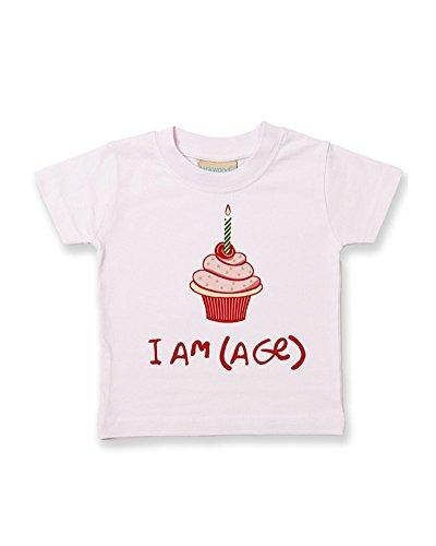 Ice-Tees T-shirt en coton doux pour enfant Motif cupcake - Rose - 2-3 ans