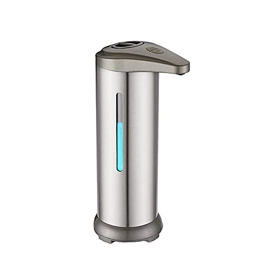 Dosificador de jabón Inteligente,Sensor inflarojo, sin Contacto, Acero Inoxidable, dosificador de jabón automático, Impermeable IPX4, 300 ml, Adecuado para restaurantes/oficinas/hoteles