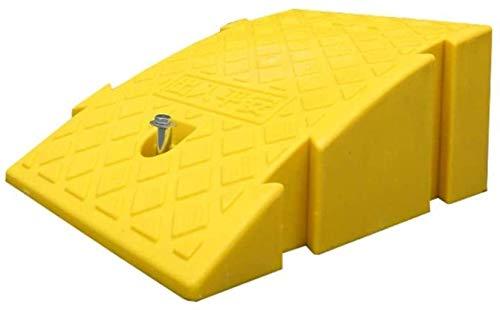 LIUYULONG Rampa de acera Rampas de plástico, rampas Empalmadas Rampas para umbral, rampas de Coche Rampas de Scooter portátiles Rampa de Seguridad (Color : Yellow, Size : 25 * 40 * 16CM)