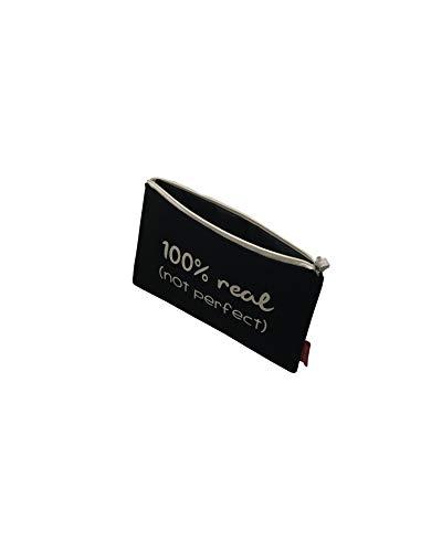 31fWqMxw91L - Bolso Neceser/Cartera de Mano. Algodón 100%. Negro. con Cremallera y Forro Interior. 23 * 15,5 cm. Incluye sobre Kraft de Regalo.