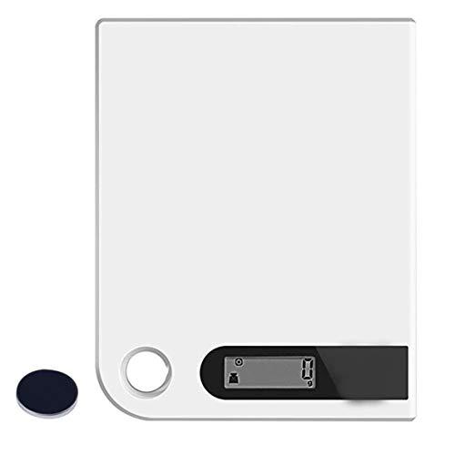 Rouku Escala electrónica Ultra Delgada de la Cocina del Acero Inoxidable de la Escala Digital de la Cocina con la Plataforma Grande y la exhibición del LCD