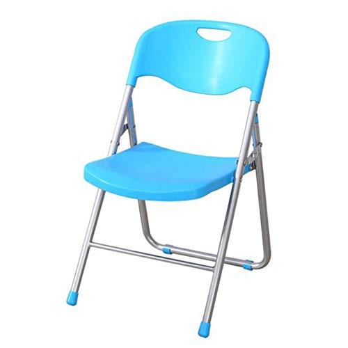 QIDI Chaise Pliante Tabouret Pliant en métal, métal, simplicité Moderne, Pliable, Facile à Transporter, Bureau, réunion en Plein air, Noir (Couleur : Gray)