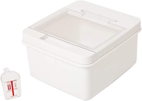 木本化学 【米びつ】ライスストッカー 5kg(ホワイト)