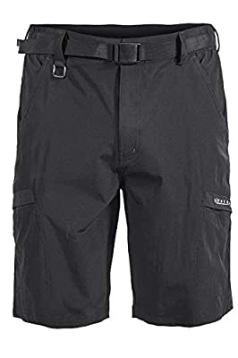 Mr.Stream Men's Hiking Loose Quick Drying Outdoor Fitness Sports Active Cargo Multi Pocket Shorts L Black