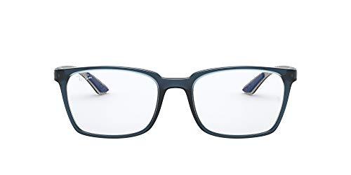 Ray-Ban 0RX8906 Gafas, TRANSPARENT BLUE, 54 para Hombre