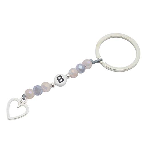 Schlüsselanhänger mit Buchstaben Handmade - inkl. Geschenkverpackung (B)