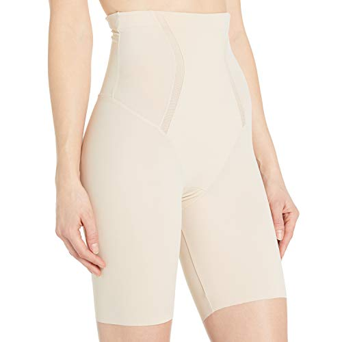 Maidenform Damen Miederhose Firm Foundations-Hi-Waist Thigh Slimmer, Beige (Latte Lift A2Q), 38