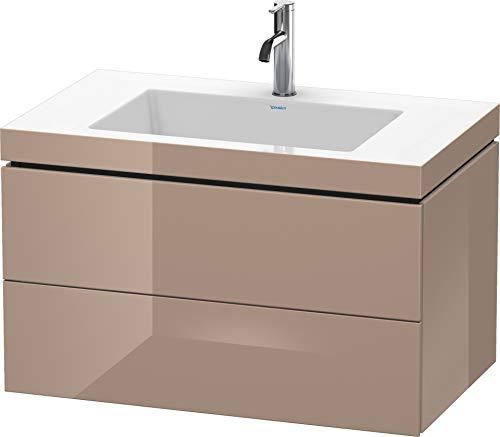 Duravit Duravit Waschtischunterbau L-CUBE mit Waschtisch Vero Air, 500 x 800 x 480 mm 1 Hahnloch cappuccino hochglanz