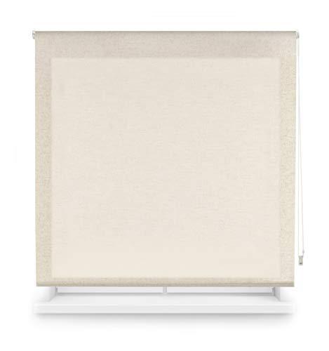 Blindecor Estor Enrollable Liso, Lino Translúcido, 80X200