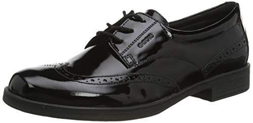 Geox JR Agata D, Zapato de Uniforme Escolar, Negro, 39 EU