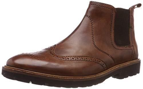 Manz Herren Firenze Chelsea Boots, Braun (Cognac 177), 42.5 EU