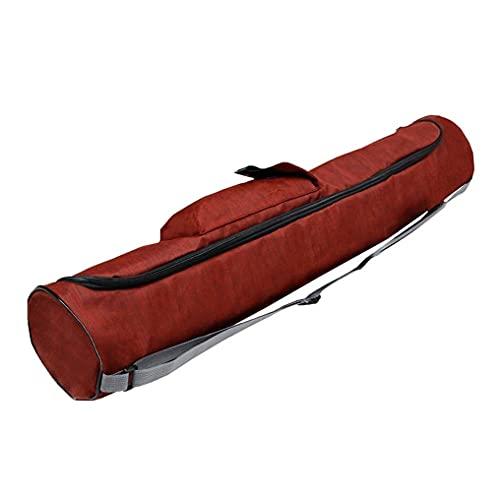 Moiyoudis Yoga Mat Bag Yoga Mat Bolsa de transporte Yoga Mat Bolso Yoga Mat Bolsa de almacenamiento ajustable Correa de hombro Multifuncional Bolsa lateral (rojo)