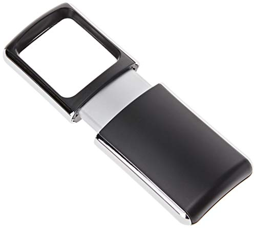 Wedo 2717501 Lupe eckig (mit LED Beleuchtung inklusiv Batterien) schwarz - 2