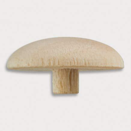 100x HOFMEISTER®Holz-Abdeck-Kappe für Spax & Torx Schrauben Nr. 2, Stift Ø 3 mm aus Ahorm Holz, Maße 13 x 7 mm, praktische Schrauben-Abdeckung für Möbel, Handwerk und Sauna