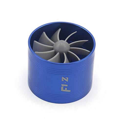 SDUIXCV Turbina De Automóvil Supercharger F1-Z Turbo Charger One Doble Aire Filtro De Aire Admisión Fans Favor De Gas Gas Kit Auto Reemplazo Parte (Color : Small)