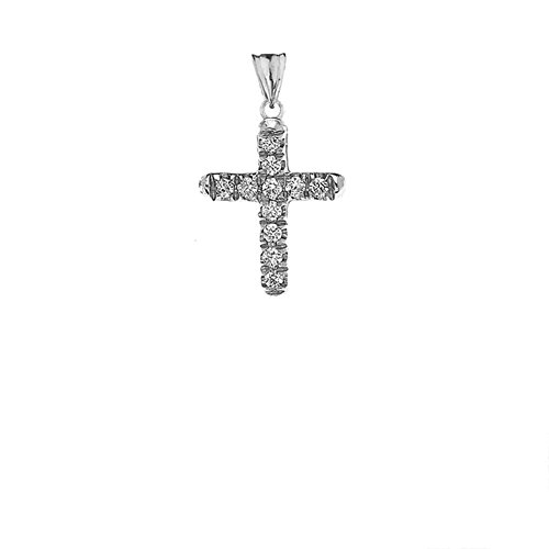 Elegant Diamond Cross Pendant - 3