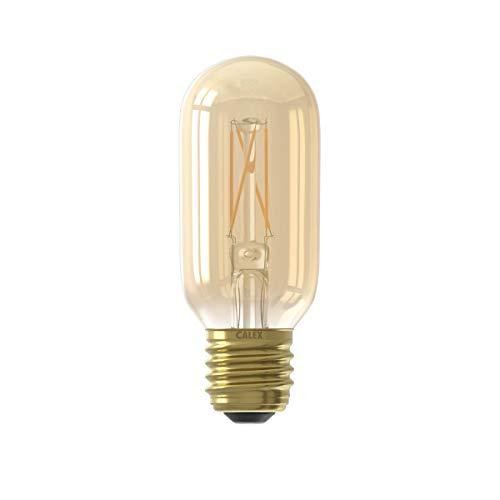 Calex LED volglas Filament buismodel lamp 220-240V 4W 320lm E27 T45x110, Goud 2100K Dimbaar