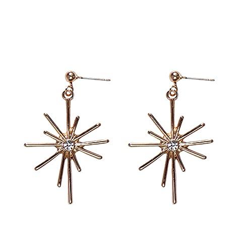 Clip de oreja de pendientes de fuegos artificiales de joyería de aguja de plata 925