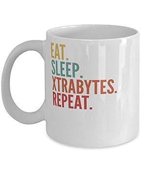 Xtrabytes Crypto Eat Sleep Xtrabytes Repeat Mug 11oz white