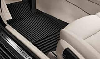 BMW 5 Series (F10) Genuine Factory OEM Black Front and Rear All-Season Floor mats 2013-2016