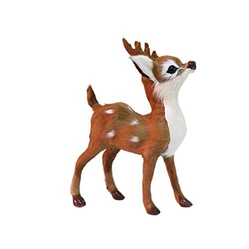 Wghz Christmas Ornament Reindeer Crafts Desktop Adornment Deer Figurine Decoration for Banquet Xmas Party
