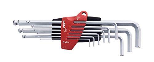 Wiha 369S9 Stiftschlüssel Set im ProStar Halter Sechskant-Kugelkopf, schwenkbar, 9-tlg.