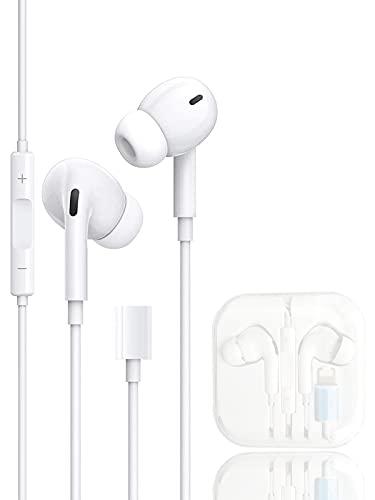 Auriculares para iPhone, Auriculares con Cable con Micrófono y Control Volumen de Llamadas Compatible con iPhone 12/11/11 Pro/XS/X/XR/8/8 Plus /7/7 Plus Compatible con Todos los Sistemas iOS