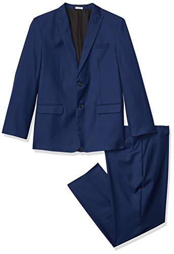 Calvin Klein Big Boys' 2-Piece Formal Suit Set, Infinity Blue, 16