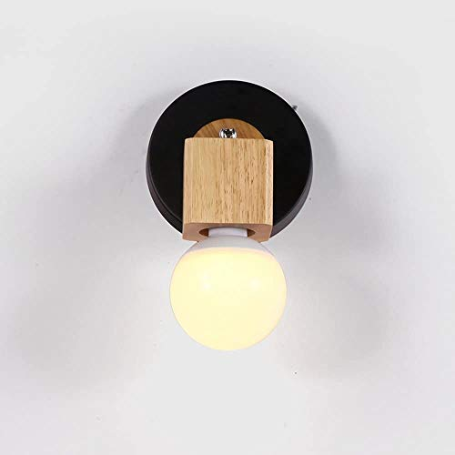 Aaedrag E27 Decoración Ajustable Pared Light1-Light Simple Simple Madera Sólido Lámpara de pared Moderno Pasillo Balcón Sala de estar Dormitorio Lámpara de noche Aisle Entrada Pared Sconence Lámpara j