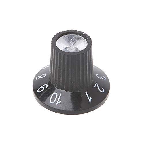 JOYKK Knop Knop Gitaar Versterker AMP Volume Tone Control Knop Geplint Aluminium Voor FD Onderdelen - Zwart + Zilver