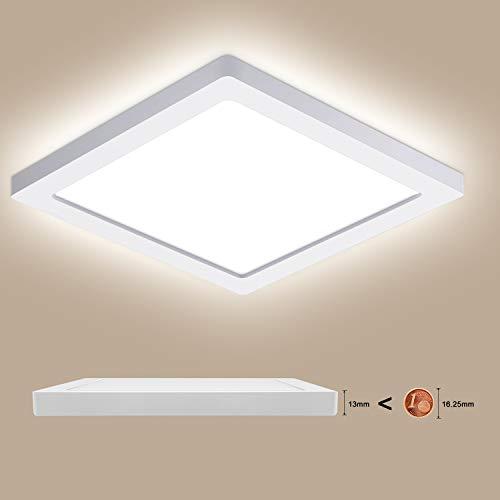 LED Deckenlampe 18W, Oeegoo LED Deckenleuchte Flach 13mm, Flimmerfreie Einbauleuchte Ultraslim Als Wohnzimmerlampe Küchenlampe Schlafzimmerlampe Kellerlampe Flurlicht 4000K